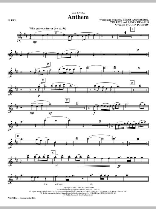 Anthem (from Chess) - Flute (Choir Instrumental Pak)
