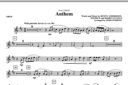 Anthem (from Chess) - Oboe (Choir Instrumental Pak)