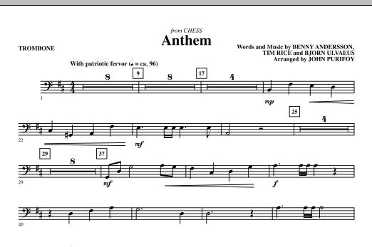 Anthem (from Chess) - Trombone (Choir Instrumental Pak)