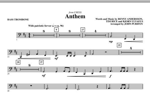 Anthem (from Chess) - Bass Trombone (Choir Instrumental Pak)