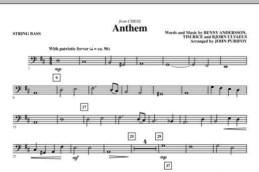 Anthem (from Chess) - String Bass (Choir Instrumental Pak)