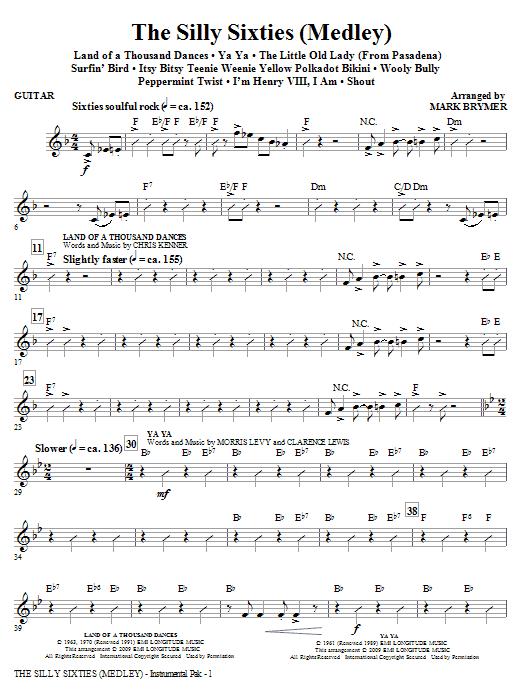 The Silly Sixties (Medley) - Guitar (Choir Instrumental Pak)