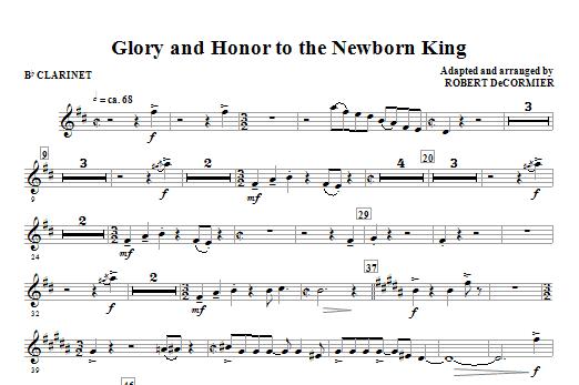 Glory And Honor To The Newborn King - Bb Clarinet Sheet Music