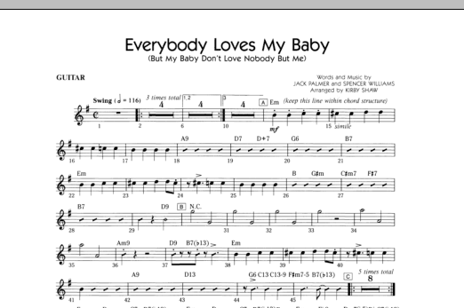 Everybody Loves My Baby (But My Baby Don't Love Nobody But Me) - Guitar Sheet Music