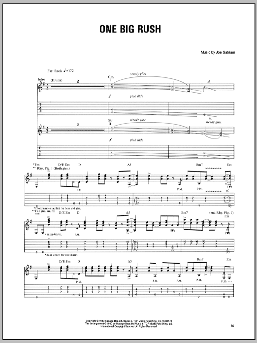 One Big Rush Sheet Music