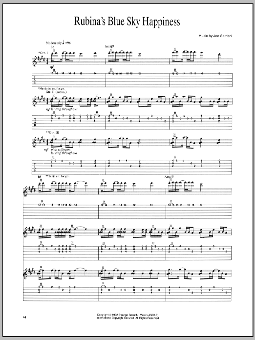 Rubina's Blue Sky Happiness Sheet Music