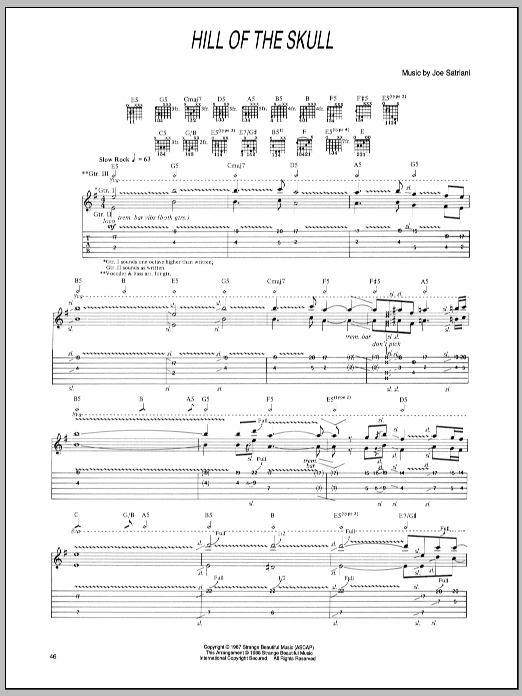Hill Of The Skull (Guitar Tab)