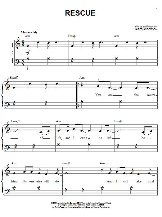 Rescue (Easy Piano)