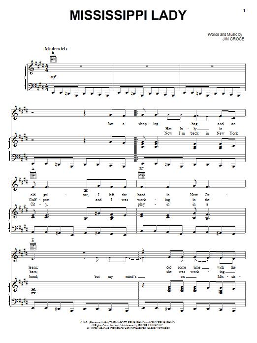 Mississippi Lady Sheet Music