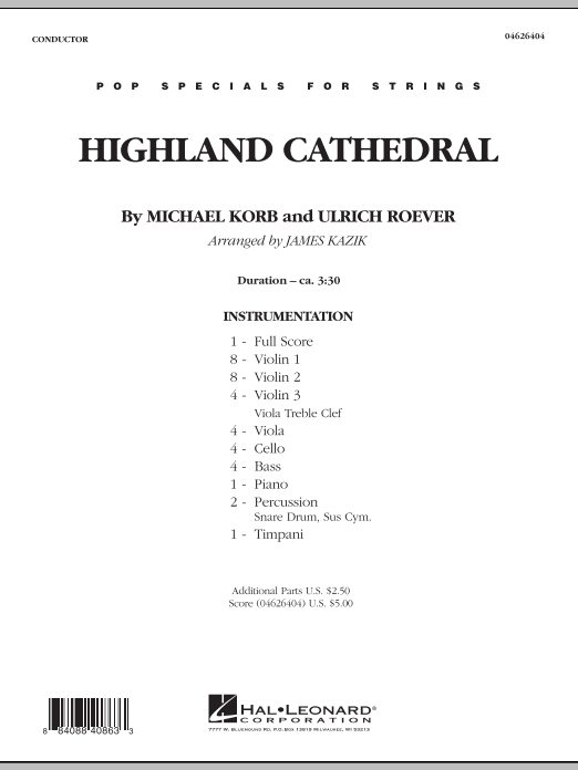 Highland Cathedral (COMPLETE) sheet music for orchestra by Michael Korb and James Kazik. Score Image Preview.