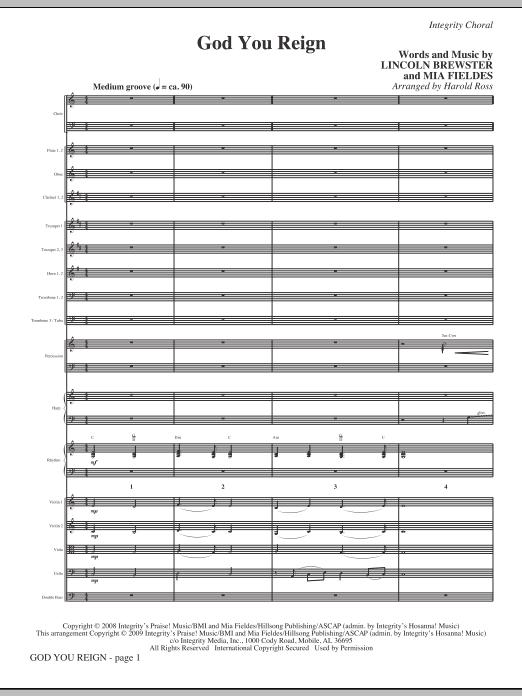 God You Reign - Full Score (Choir Instrumental Pak)
