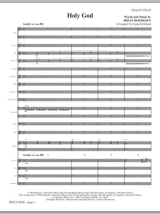 Holy God - Full Score (Choir Instrumental Pak)