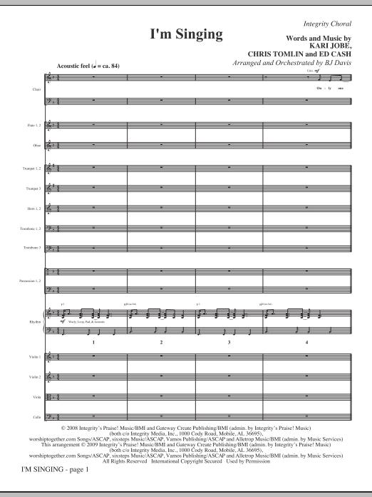 I'm Singing - Full Score Sheet Music