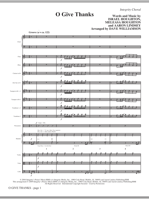 O Give Thanks - Full Score Sheet Music