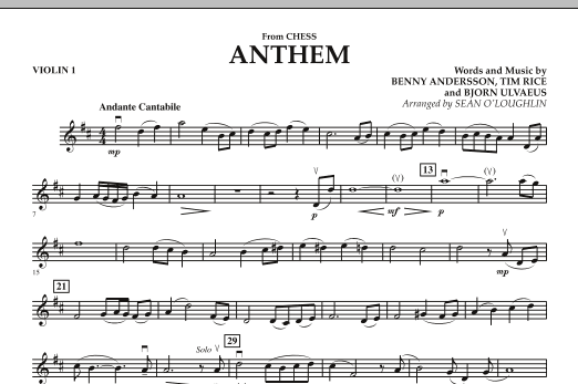 """Anthem (from """"Chess"""") - Violin 1 (Orchestra)"""