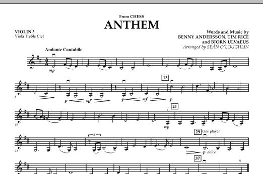 "Anthem (from ""Chess"") - Violin 3 (Viola Treble Clef) (Orchestra)"