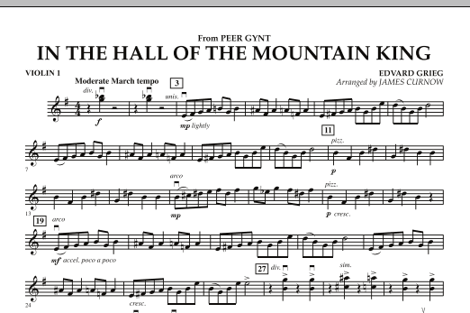 In the Hall of the Mountain King - Violin 1 (Orchestra)