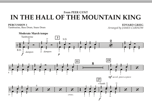 In the Hall of the Mountain King - Percussion 1 (Orchestra)