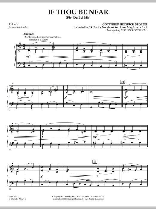 If Thou Be Near Bist Du Bei Mir Piano By Robert Longfield Orchestra Digital Sheet Music