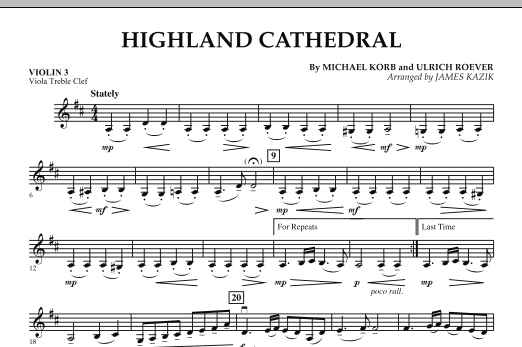 Highland Cathedral - Violin 3 (Viola Treble Clef) (Orchestra)