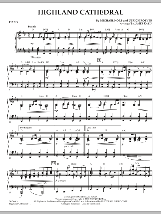 Highland Cathedral - Piano (Orchestra)