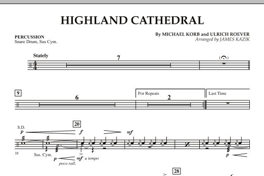 Highland Cathedral - Percussion (Orchestra)