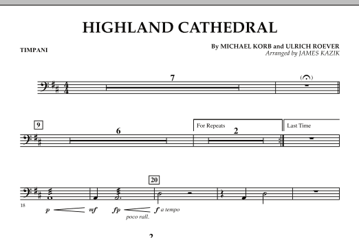 Highland Cathedral - Timpani (Orchestra)