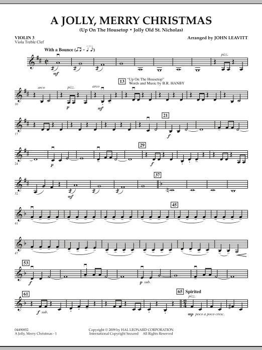 A Jolly, Merry Christmas - Violin 3 (Viola Treble Clef) (Orchestra)