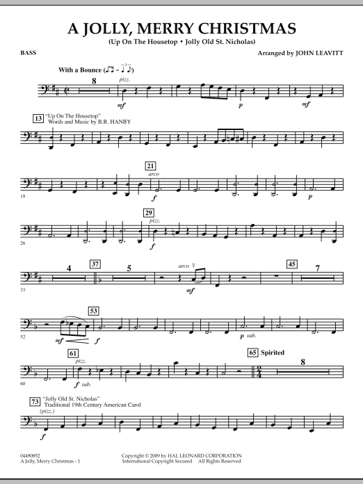 A Jolly, Merry Christmas - Bass (Orchestra)