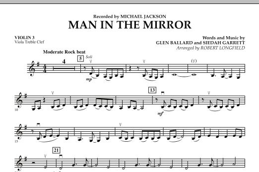 Man in the Mirror - Violin 3 (Viola T.C.) (Orchestra)
