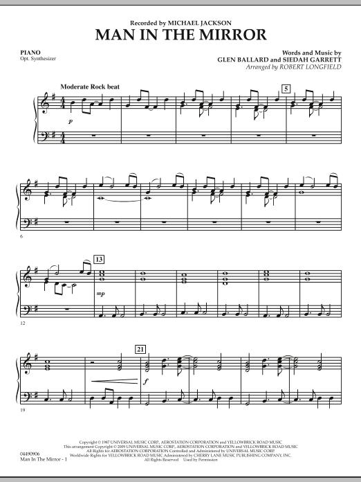 Man in the Mirror - Piano (Orchestra)