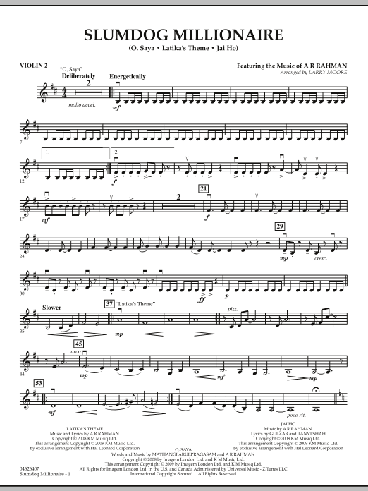 Slumdog Millionaire - Violin 2 (Orchestra)