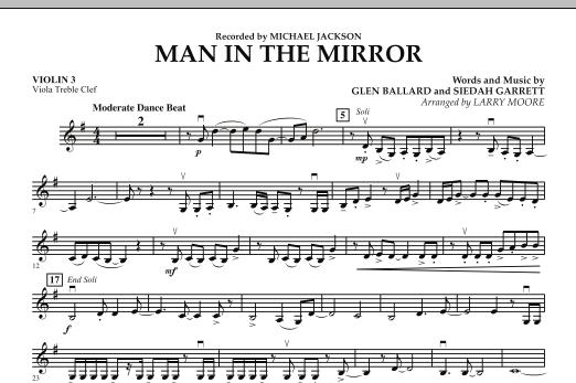 Man in the Mirror - Violin 3 (Viola Treble Clef) (Orchestra)