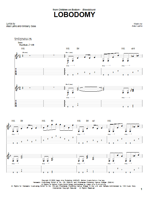 LoBodomy Sheet Music