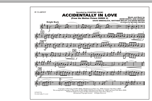 Accidentally In Love - Bb Clarinet (Marching Band)