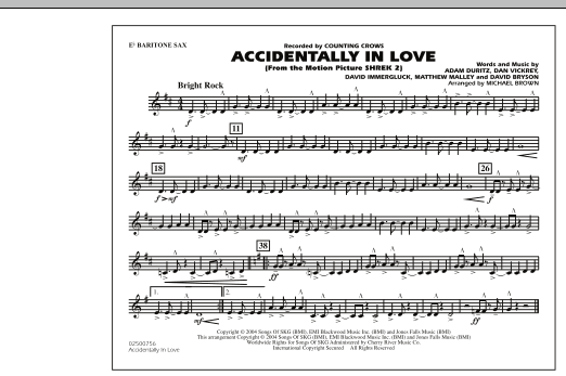 Accidentally In Love - Eb Baritone Sax (Marching Band)