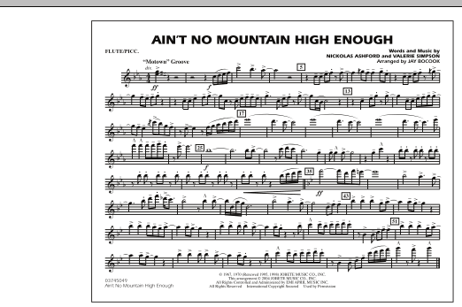 Ain't No Mountain High Enough - Flute/Piccolo (Marching Band)