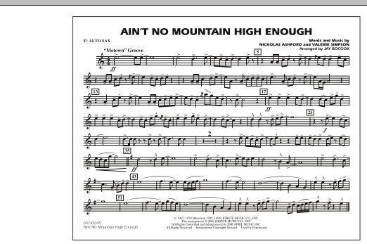 Ain't No Mountain High Enough - Eb Alto Sax (Marching Band)