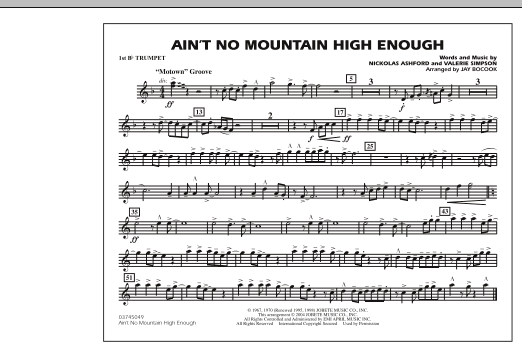 Ain't No Mountain High Enough - 1st Bb Trumpet (Marching Band)