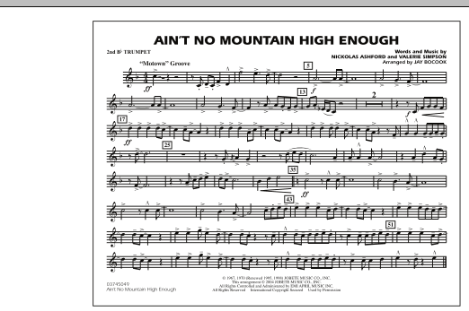 Ain't No Mountain High Enough - 2nd Bb Trumpet (Marching Band)