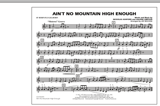 Ain't No Mountain High Enough - Bb Horn/Flugelhorn (Marching Band)