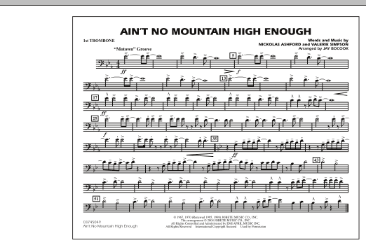 Ain't No Mountain High Enough - 1st Trombone (Marching Band)