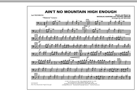 Ain't No Mountain High Enough - 2nd Trombone (Marching Band)