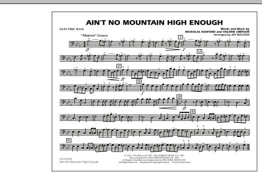 Ain't No Mountain High Enough - Electric Bass (Marching Band)