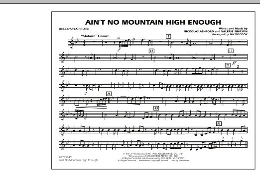 Ain't No Mountain High Enough - Bells/Xylophone (Marching Band)