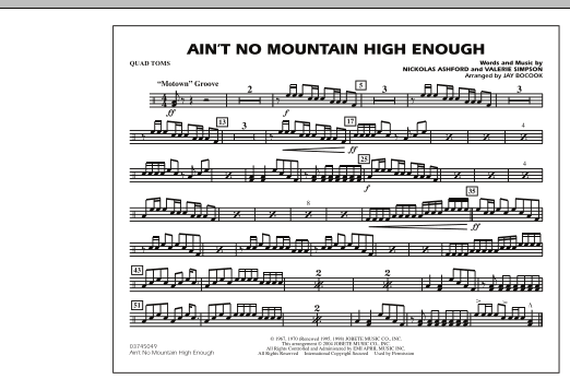 Ain't No Mountain High Enough - Quad Toms (Marching Band)