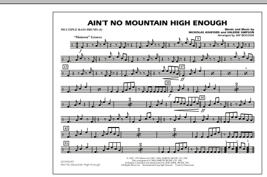 Ain't No Mountain High Enough - Multiple Bass Drums (Marching Band)