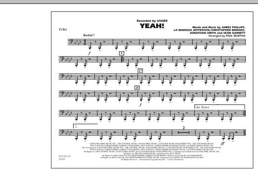 Yeah! - Tuba (Marching Band)