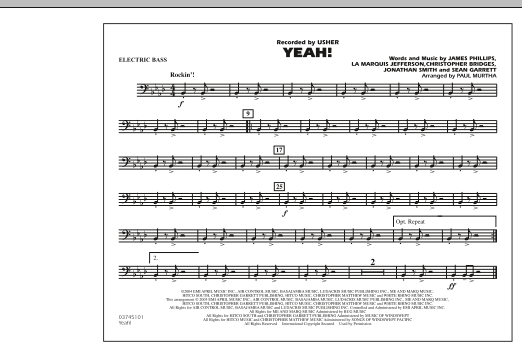 Yeah! - Electric Bass (Marching Band)