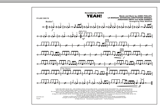 Yeah! - Snare Drum (Marching Band)